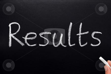 Results, written on a blackboard. stock photo, Results, written on a blackboard. by Stephen Rees