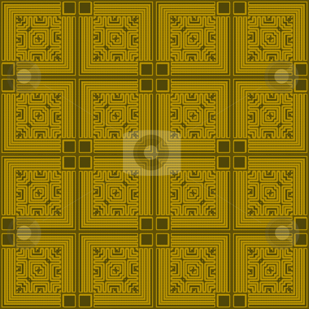Wallpaper square tile stock photo, Golden square abstract tile design that seamlessly repeats by Michael Travers