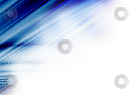 Blue cross corner stock photo, Abstract blue and white background with copy space by Michael Travers