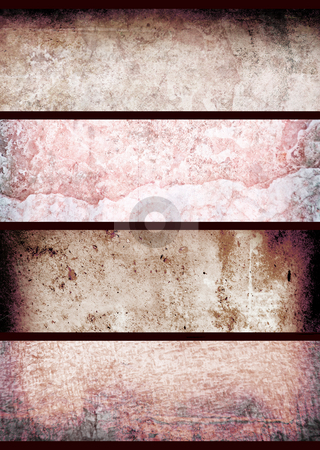 Red grunge wall stock photo, Grunge background image with a red hue by Michael Travers