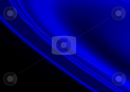 Smooth blue stock photo, Blue and black abstract background with copy space by Michael Travers