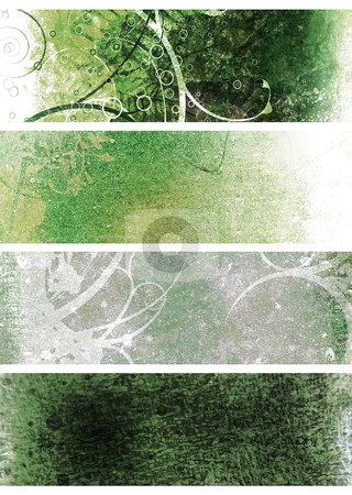 Natural grunge green stock photo, Green and white natural grunge background by Michael Travers