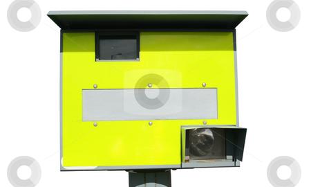 Yellow British speed camera. stock photo, Yellow British speed camera. by Stephen Rees