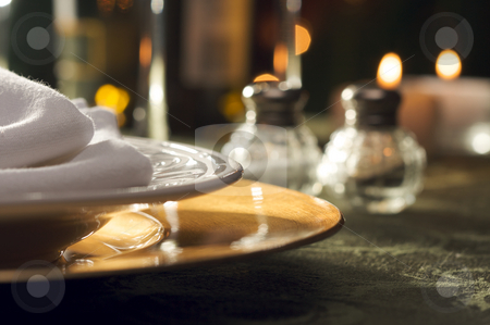 Elegant Dinner Setting stock photo, Elegant Dinner Setting Abstract Macro Background by Andy Dean