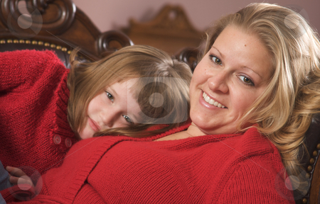 Young Mother and Daughter stock photo, Young Mother and Daughter Enjoying a Personal Moment by Andy Dean