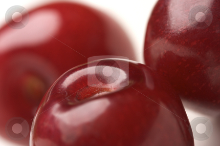 Macro Cherries stock photo, Abstract Macro Image of Cherries. by Andy Dean