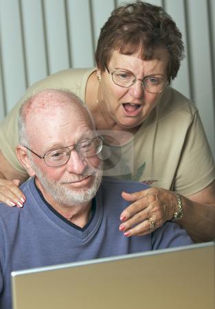 Senior Adults on Laptop Computer stock photo, Senior Adults on Working on a Laptop Computer by Andy Dean
