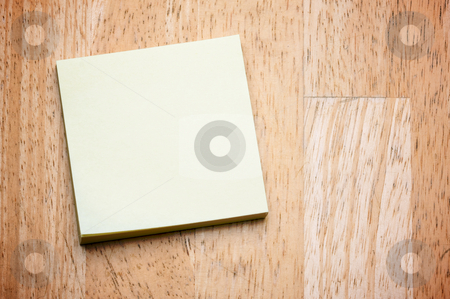 Post It Note Pad stock photo, Post It Note Pad on a Wood Background by Andy Dean