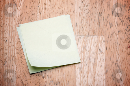 Post It Notes on Wood stock photo, Post It Notes on Wood Background by Andy Dean