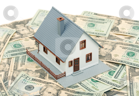 Home and Money stock photo, Home and Money Isolated on a White Background by Andy Dean
