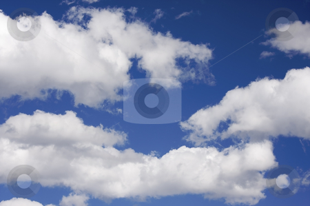 Tranquil Clouds and Sky stock photo, Tranquil Clouds and Deep Blue Sky by Andy Dean