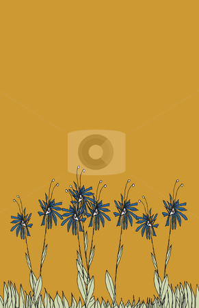 Vector illustration of a group of flowers stock photo, Vector illustration of a group of flowers by Fran Giordano