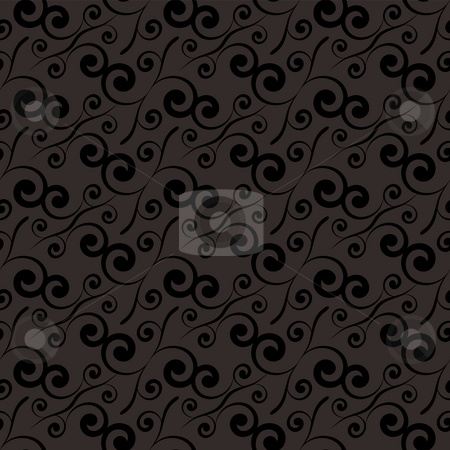 Swirl repeat black stock photo, Black and grey seamless tile background by Michael Travers