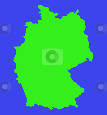 Outline map of Federal Republic of Germany stock photo, Outline map of Federal Republic of Germany in green isolated on white background. by Martin Crowdy