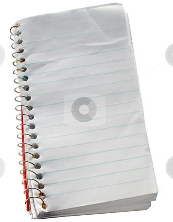 Note book stock photo, Small scruffy old reporters notepad. by Stephen Rees