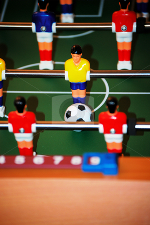 Score stock photo, About to score on a foosball table by Tim Markley