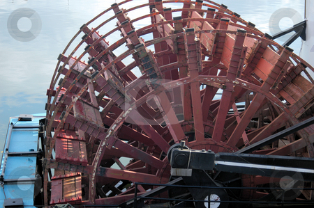 Paddle wheel stock photo, A large paddle wheel on river boat in Georgia by Tim Markley