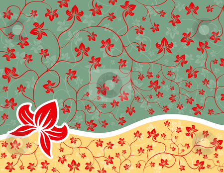 Floral Background stock vector clipart, Ornate Floral Background by Adrian Sawvel