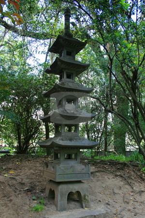 Japanese Pagoda Statue stock photo,  by Michael Felix