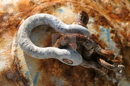 Old Rusty Buoy stock photo, An old and rusty buoy with a loop. by Henrik Lehnerer