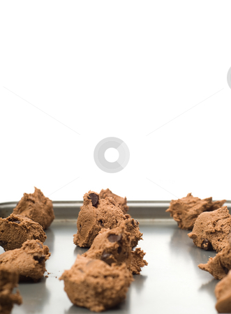 Cookies stock photo, A baking sheet full of cookies ready for the oven by Richard Nelson