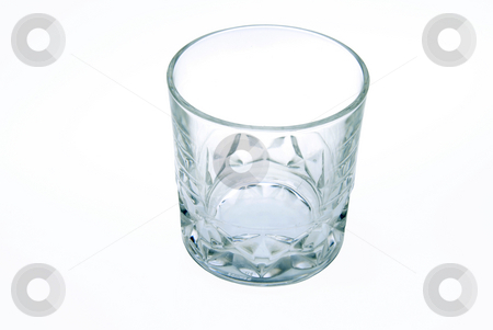 Closeup of an empty glass stock photo, Closeup of an empty glass. White background. by Joanna Szycik