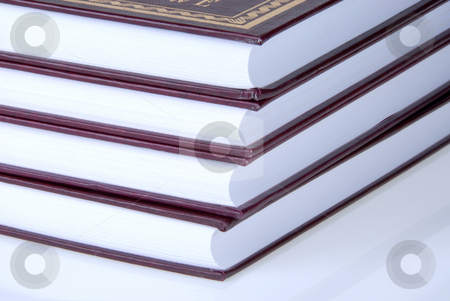 Books Stack stock photo, Some books standing on a white background by Joanna Szycik