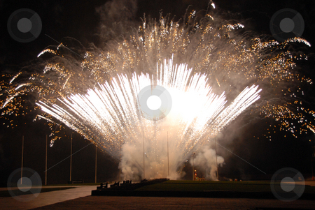 Fireworks stock photo, Several bursts of fireworks taken at firefall celebration by Joanna Szycik