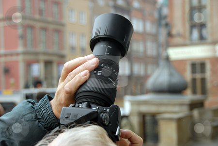 Man doing photo stock photo, Man is doing a photo professional camera by Joanna Szycik