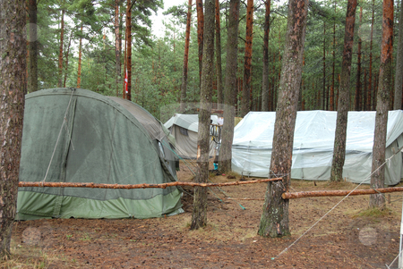 Boy Scout Camp stock photo, Typical campsite at a Boy Scout Camp by Joanna Szycik