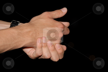 Hands stock photo, Man is showing a sign with his hands by Joanna Szycik