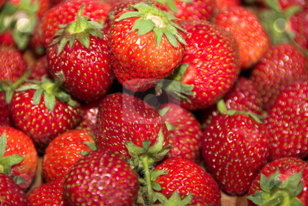 Strawberries stock photo, Close-up of ripe, red, fresh, tasty and delicious strawberries by Joanna Szycik