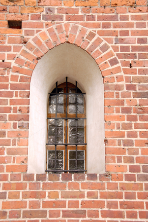 Window in an Malbork csatle stock photo, A gothic style window in an Malbork csatle by Joanna Szycik