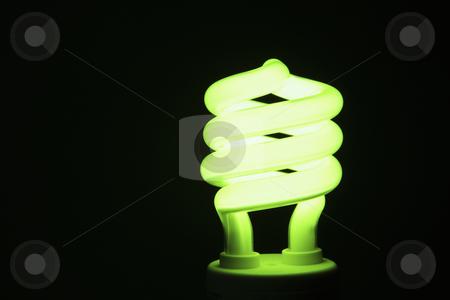 Energy Saving Lightbulb stock photo, Energy saving lightbulb lighting up by Bryan Mullennix