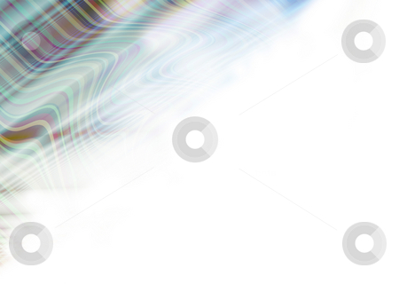 Scottish swirl stock photo, Abstract Illustrated flowing green background with copy space by Michael Travers