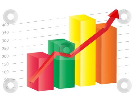 Business 3d graph stock vector