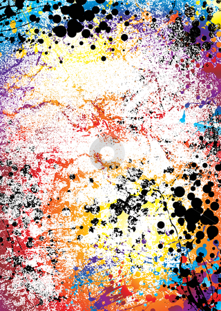 Grunge rainbowmarble stock photo, Rainbow grunge ink spalt background with a marble effect by Michael Travers