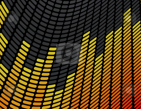 Orange and Yellow Music Equalizer Background stock vector