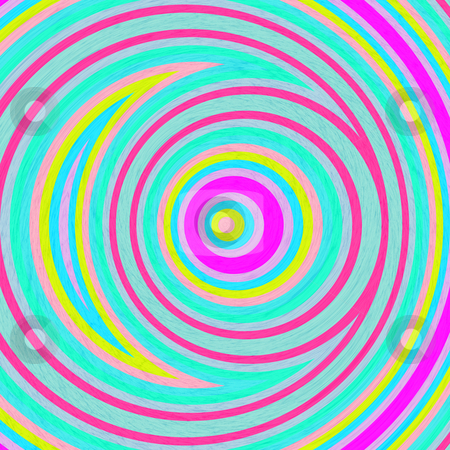 Abstract circle pattern stock photo, Pattern of circle shapes with line texture in bright colors by Wino Evertz