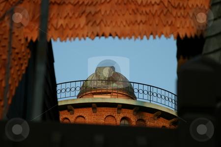 Old Observatory stock photo, An old observatory red brick building and copper roof by Henrik Lehnerer