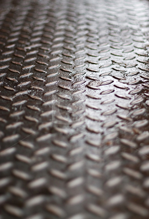 Diamond Plate stock photo, Closeup of real diamond plate material - super shallow depth of field. by Todd Arena