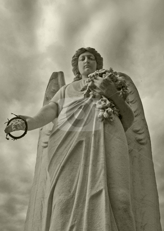 The angel's offering stock photo,  by Mark Gagne