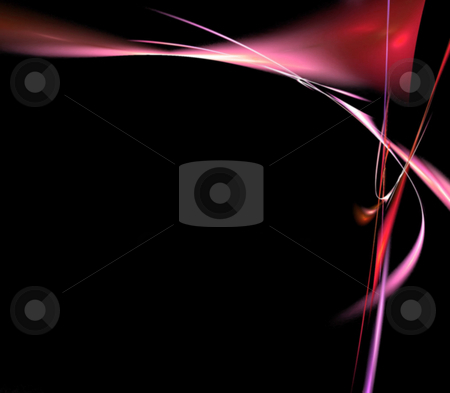 Modern Page Template stock photo, A cool background layout with 3d abstract lines - very modern.  Great for ads. by Todd Arena