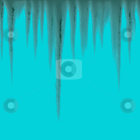 Seamless Icicles stock photo, Isolated icicles hanging over a blue background - tiles seamlessly as a pattern by Todd Arena