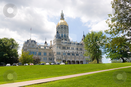 Hartford Capitol Building stock photo, The golden-domed capitol building in Hartford Connecticut. by Todd Arena