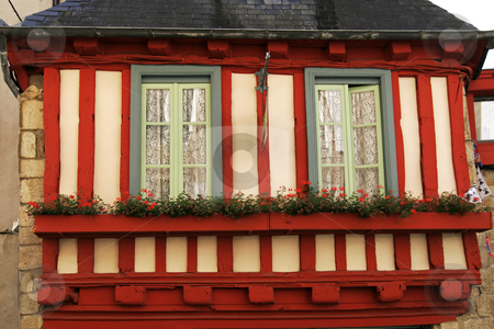 Quimper, timbered house in Brittany, Northern France stock photo, Quimper, timbered house in Brittany, Northern France by Lothar Hinz