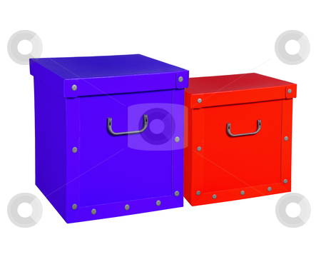 Two cardboard boxes, isolated. stock photo, Two cardboard boxes, isolated in white background. by Pablo Caridad