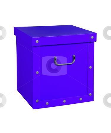 Blue cardboard box, isolated. stock photo, Blue cardboard box, isolated in white background. by Pablo Caridad
