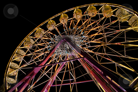 Ferris wheel at the fair stock photo, Ferris wheel at the state fair. by Robert Ranson