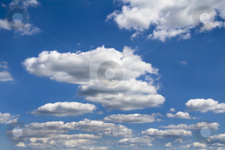 Clouds  stock photo, Beautiful clouds infront of a blue sky on a nice summer day. by Robert Ranson